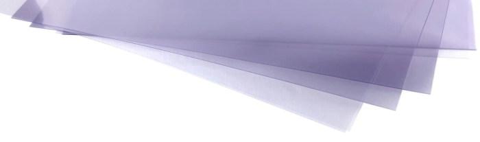 Le rhodoïde ou film plastique transparent