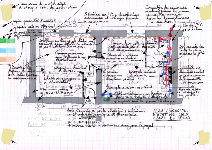 Plan du diagnostic avant travaux - Ancien appartement de 40 m2 !