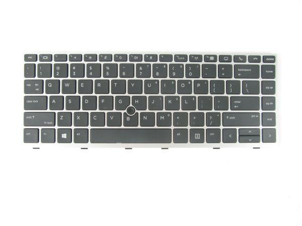 LAPTOP KEYBOARD FOR HP ELITEBOOK 840 G5 745 G5 WITH FRAME & WITHOUT BACKLIT US VERSION BLACK