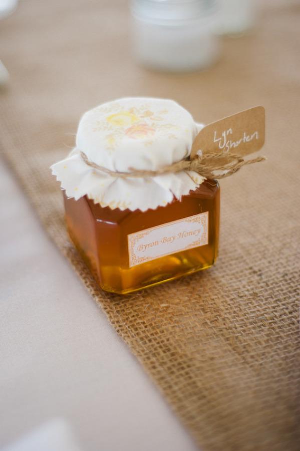 Cadeaux d'invités miel