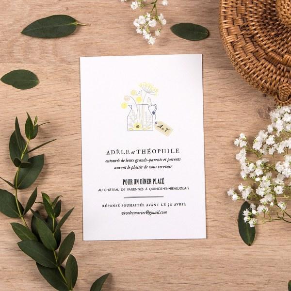 L'atelier Rosemood - Faire-part- Fleuri - L'apprentie Mariée