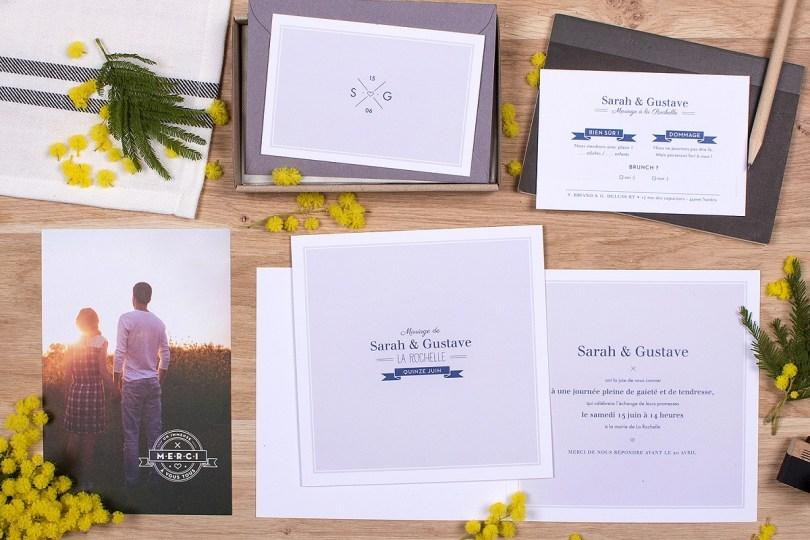 L'atelier Rosemood - Faire-part- Bleu - Croisette - L'apprentie Mariée