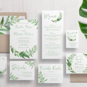 invitation-de-mariage-feuille
