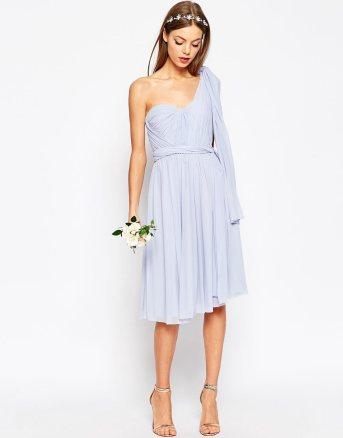 ASOS WEDDING Multiway Mesh Midi Dress