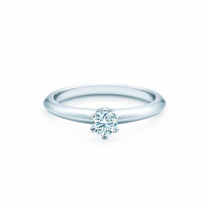 bague fiançailles tiffany diamant platine