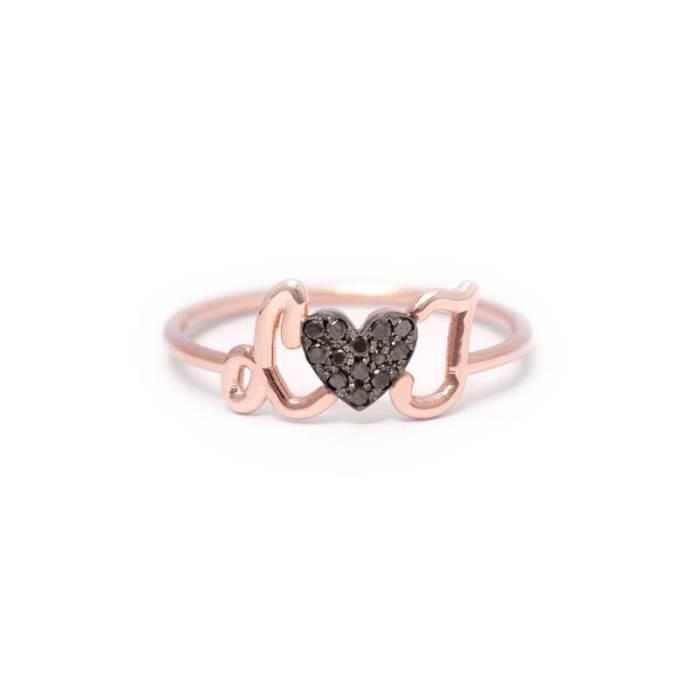 bague de fiançailles thea jewelry initiales amoureux