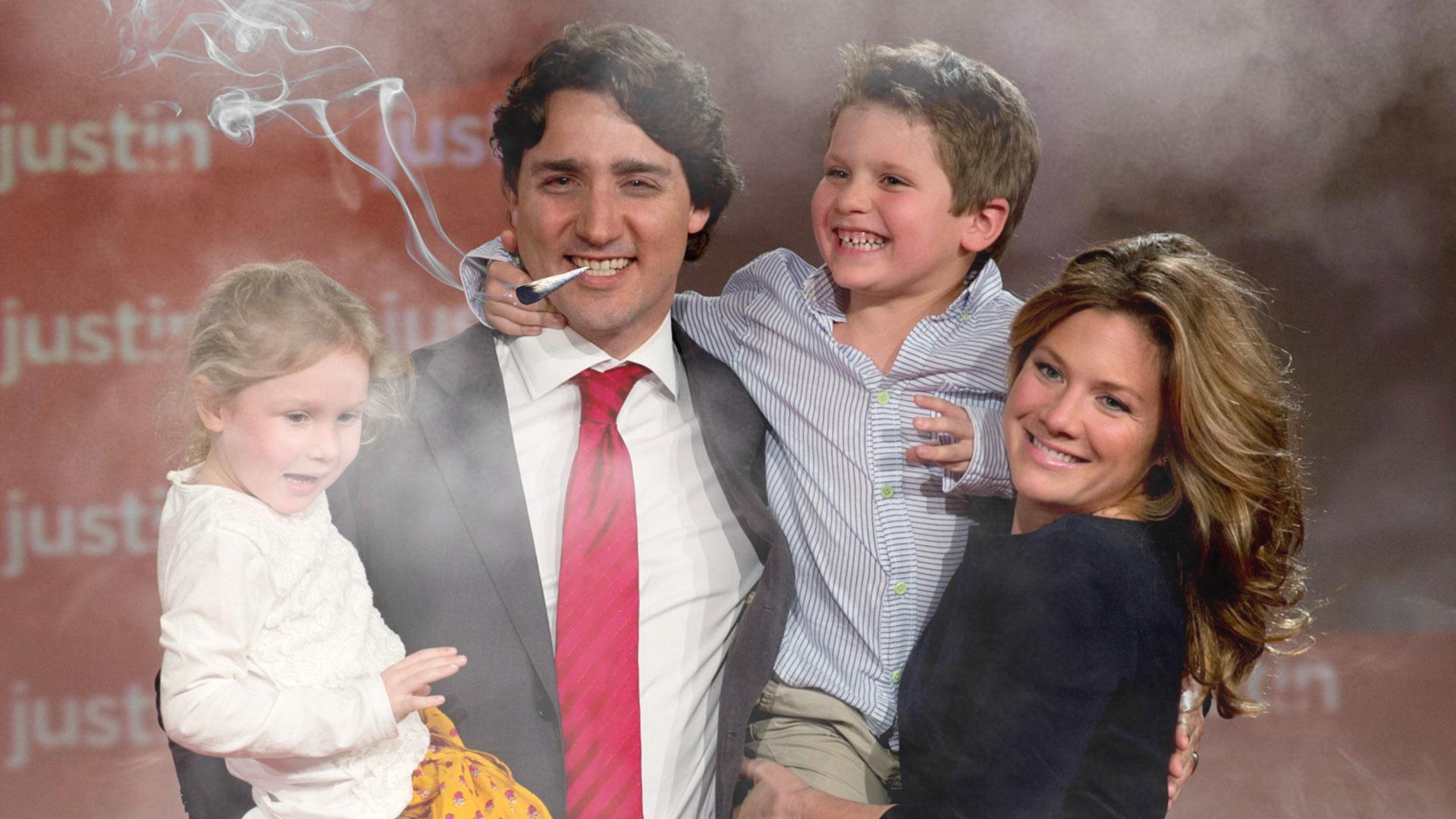 Justin Trudeau Fume Un Joint Lors De Son Discours De