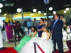 Fernanda y Mirka Jara, en una ceremonia especial para ambas.