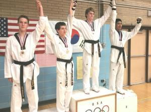 Garrett obtuvó la medalla de oro.