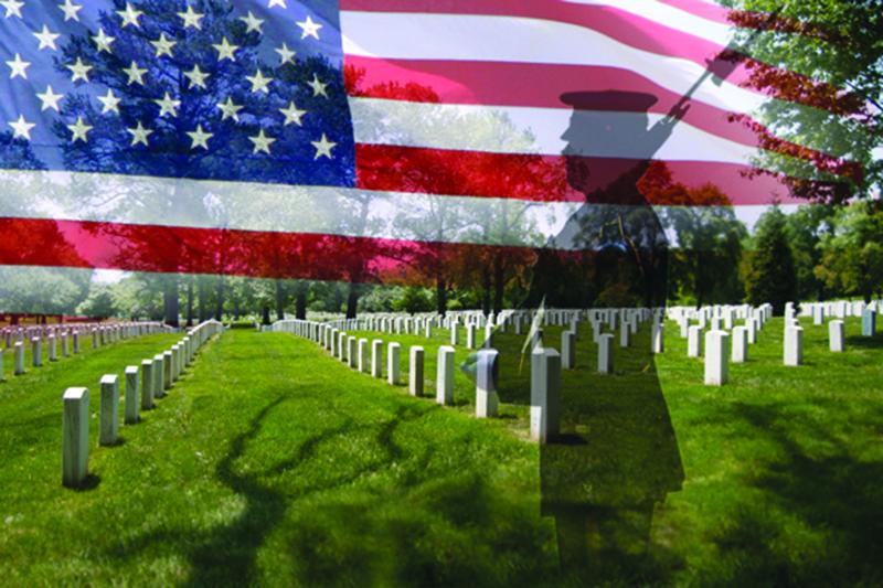 Recordando a los soldados caídos en combate