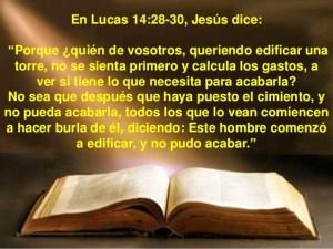 Lucas 14 28 al 30