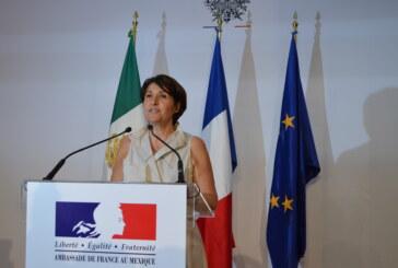 Anne Grillo, embajadora de Francia en México, les desea un muy feliz y próspero año 2018 ! (Video)