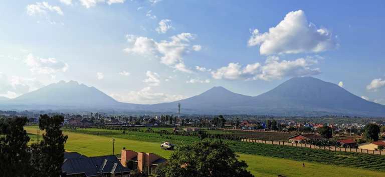 Vista de los volcanes de Musanze