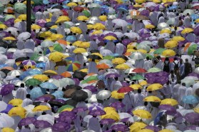 Pluie à Arafat en Photo FETHI BELAID