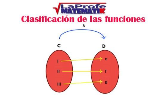 Clasificación de las funciones