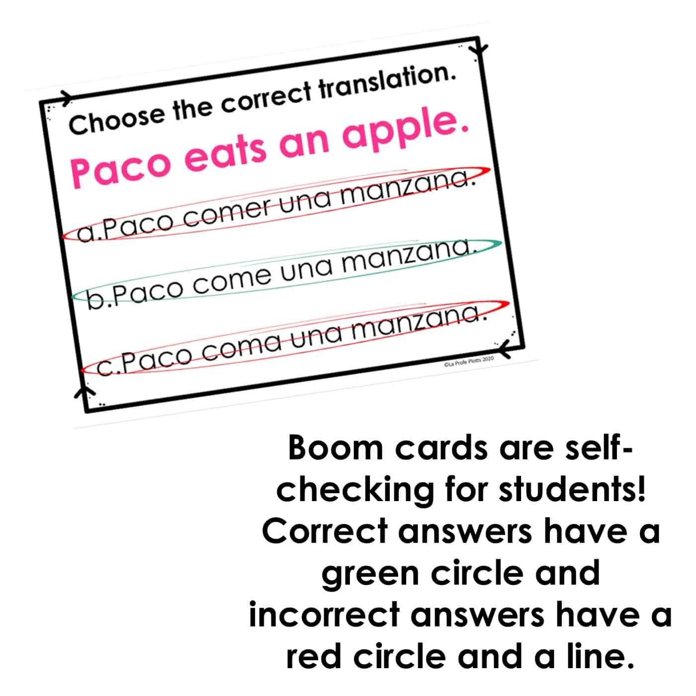 Present Tense Er Verbs Spanish Boom Cards