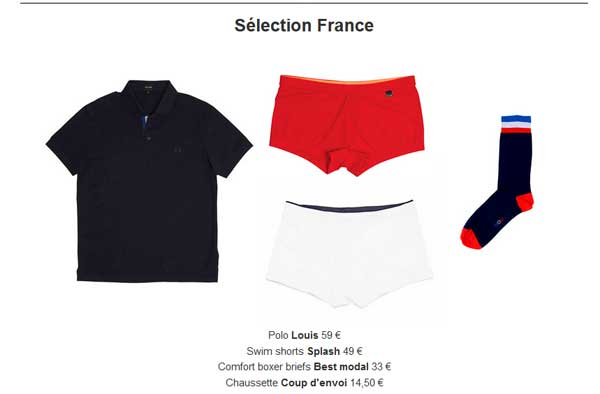 Hom, polo et maillot