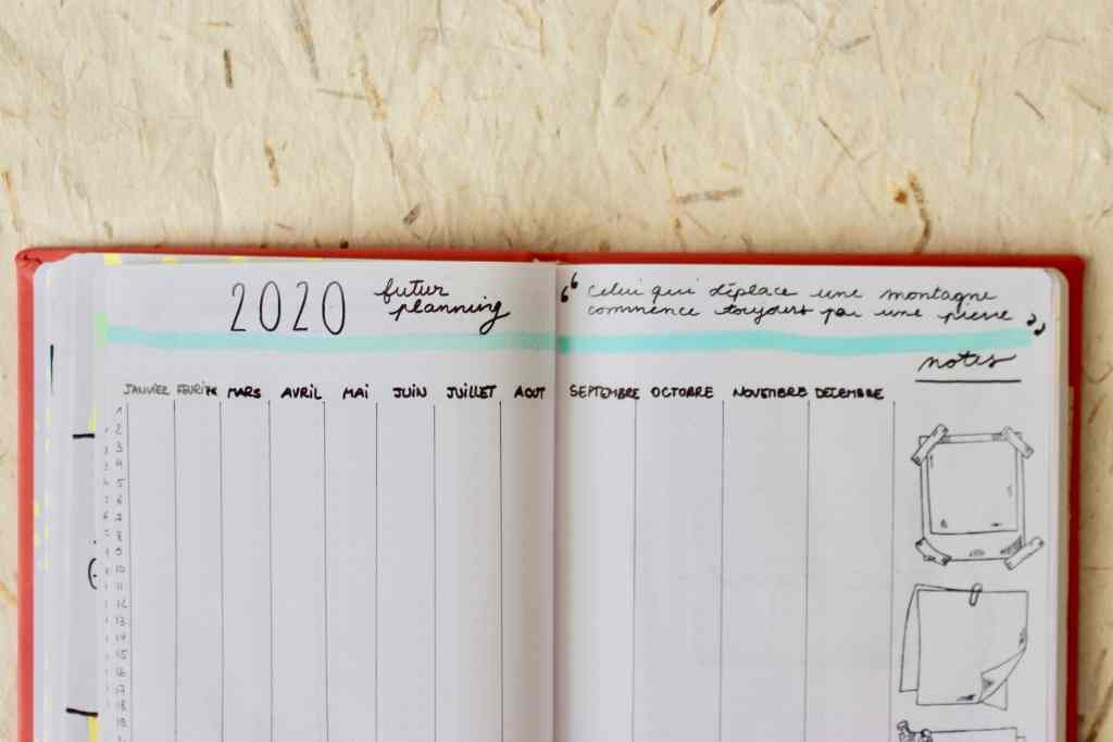 Bullet-journal-exemple-calendrier-future-log