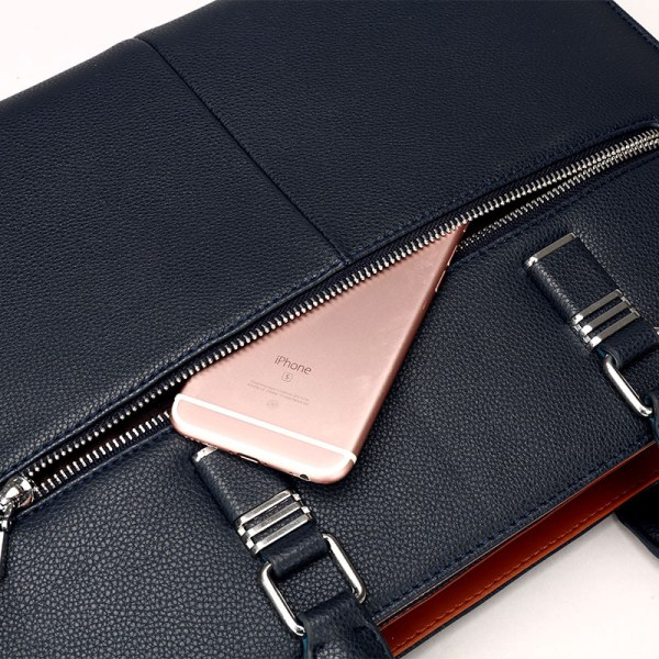 phone slot for leather laptop bag