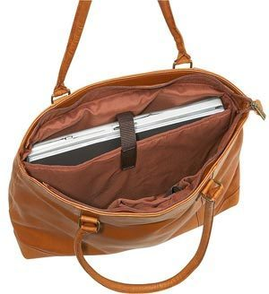 Internal design of Le Donne Leather Women Laptop Tote
