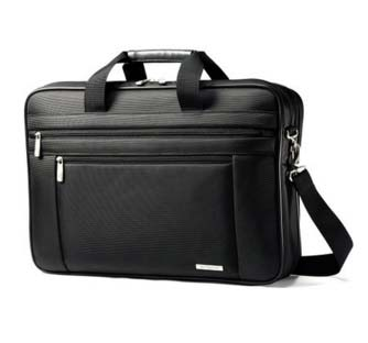 Samsonite Classic Two Gusset 17 inch Toploader Laptop Bag Design and Material