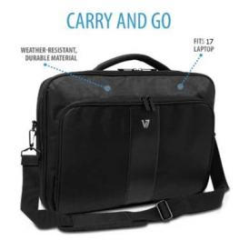 V7 Pro2 Frontload Shock and Water Resistant 17 inch Laptop Bag
