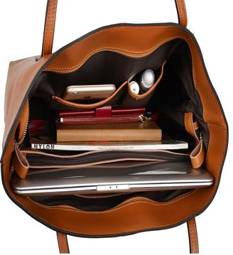 Yahoho Womens Genuine Leather Laptop Work Tote Review