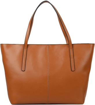 Yahoho Womens Genuine Leather Laptop Work Tote