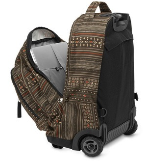 Internal design of Jansport Driver 8 Core Series Wheeled Backpack