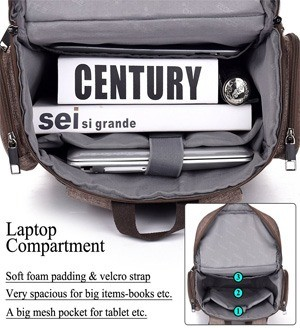 Internal Design of Brinch Multifunctional Unisex Laptop Backpack