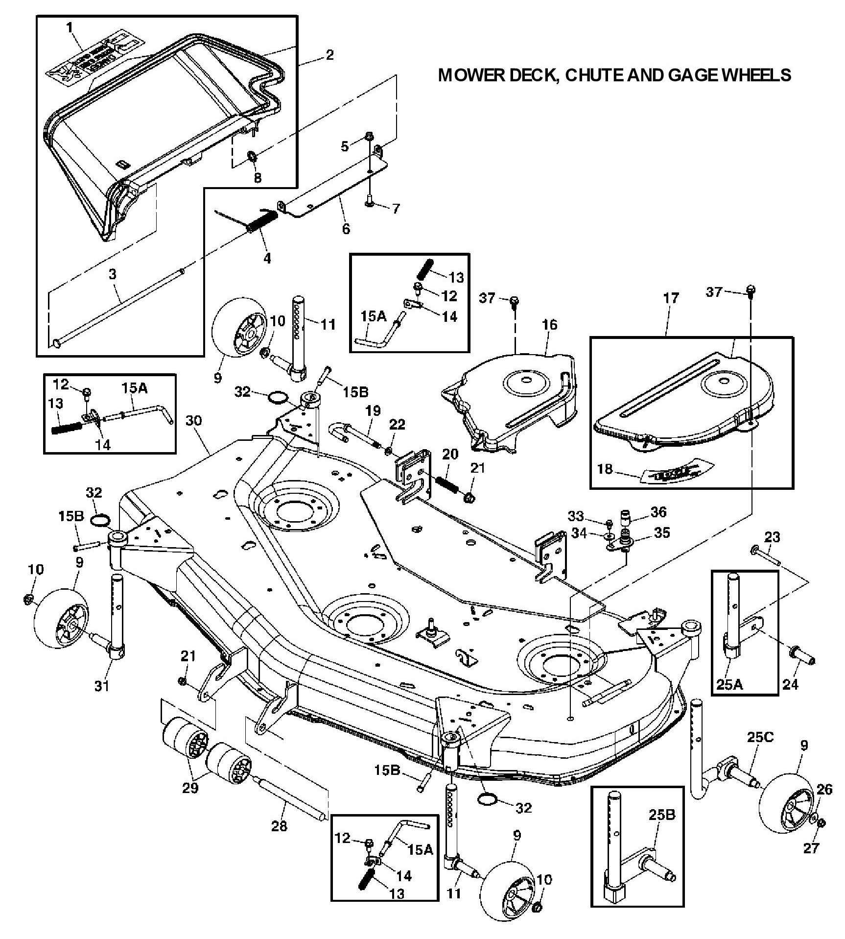 John Deere X320 Deck Parts