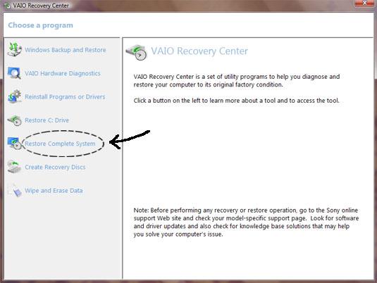 Format Ulang atau Recovery Sony VAIO (3/6)