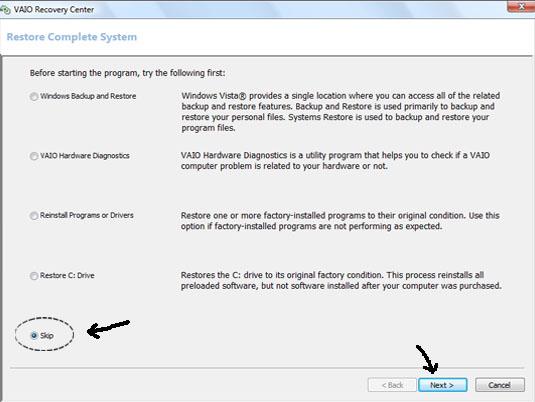Format Ulang atau Recovery Sony VAIO (5/6)