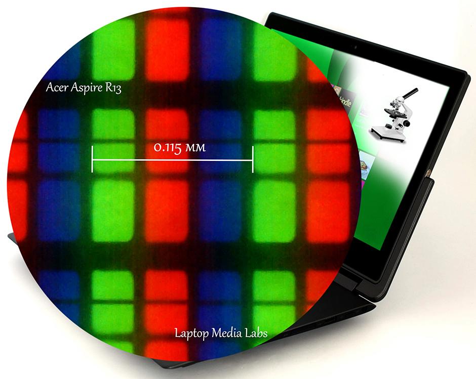 microscope-Acer Aspire R13