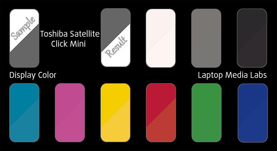 DisplayColor-Toshiba Satellite Click Mini