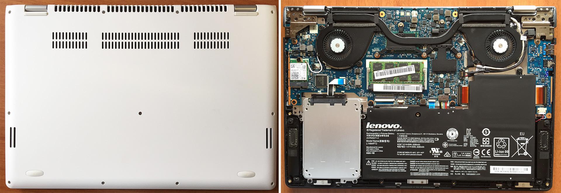 Inside Lenovo Yoga 3 (14-inch) – disassembly, internal