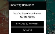 Innactivity reminder