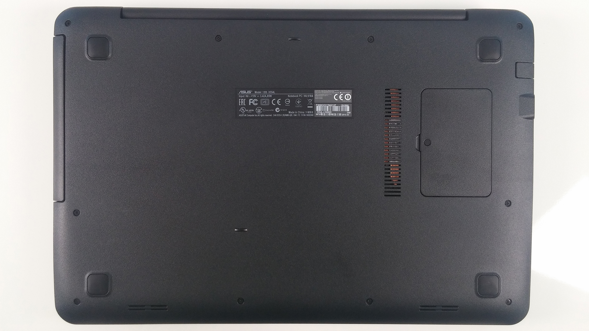 Inside Asus X554l Disassembly Internal Photos And Upgrade Options Diagram Of Computer Parts Laptop 2015 08 10 141549