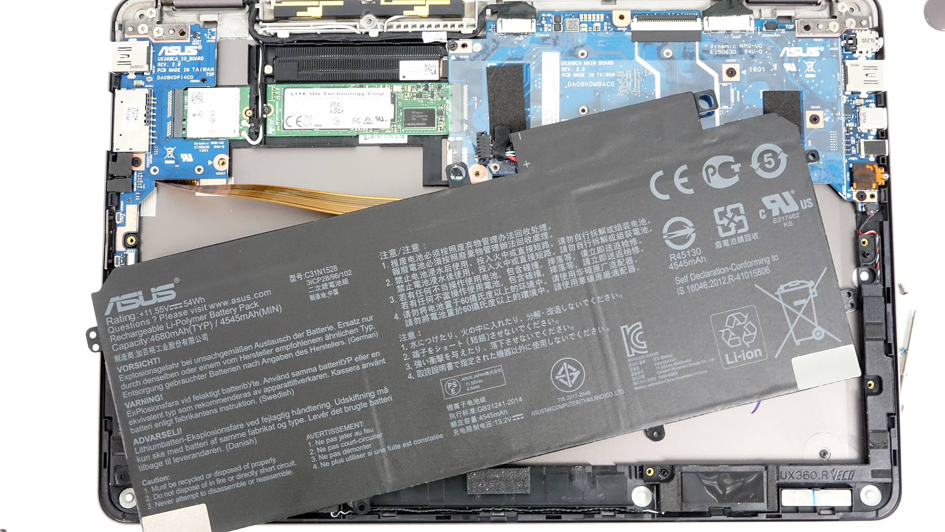 Inside Asus Zenbook Flip Ux360 Disassembly Internal Photos And A Few Pictures Of The Board Internals Dsc09383