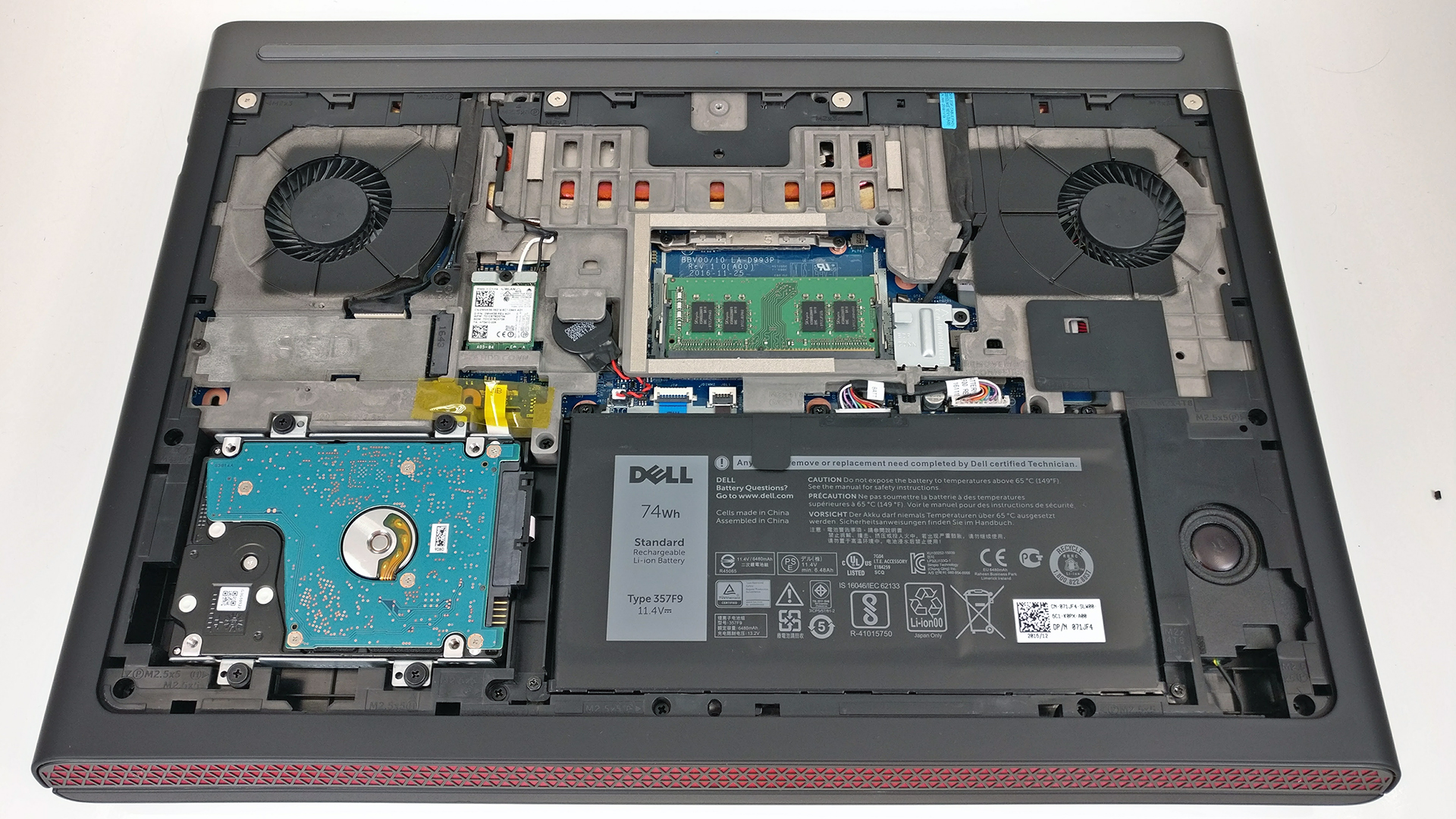 Inside Dell Inspiron 15 7567 – disassembly, internal photos