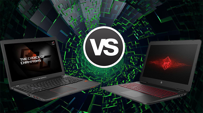 Gtx 1050 ti battle hp omen 15 vs asus rog strix gl553ve for Portent vs omen