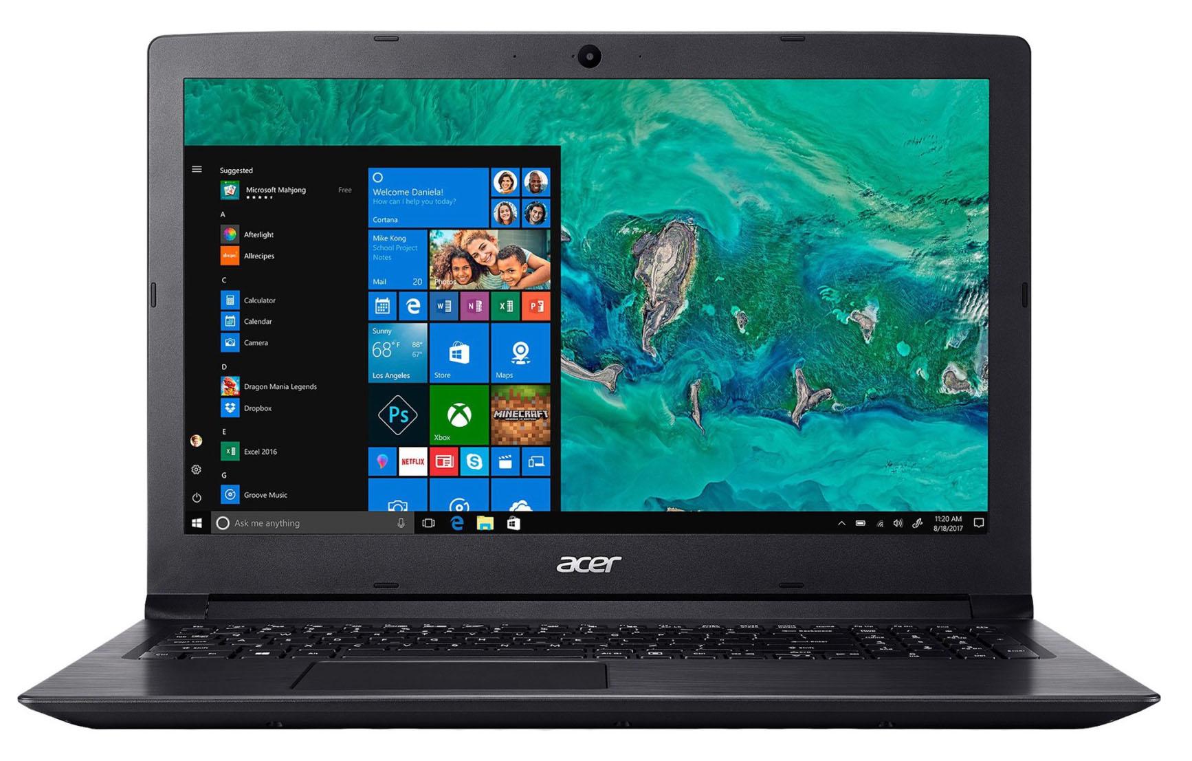 """Acer Aspire 3 (A315-51) · i5-7200U · Intel HD Graphics 620 · 15.6"""", HD  (1366 x 768), TN · 1TB HDD, 5400 rpm · 6GB DDR4 · Windows 10 Home    LaptopMedia Australia"""
