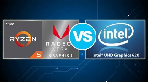 Amd Radeon Rx Vega 8 Vs Intel Uhd Graphics 620 The Vega 8 Is Nearly Twice Faster Than Its Opponent