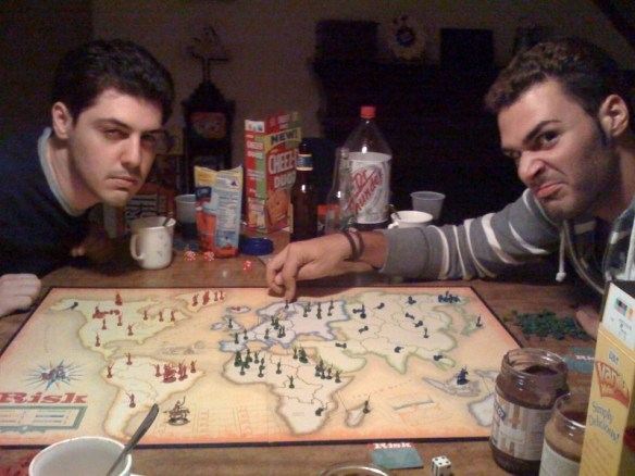 Risk Global Domination at FMP Studios - Jim and Mike Fusco