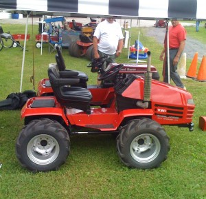 Modified, articulating tractor