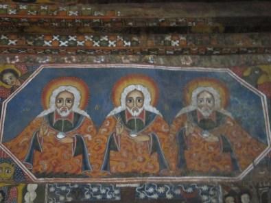 Detalle de los frescos de la Iglesia de Debre Berhan Selassie