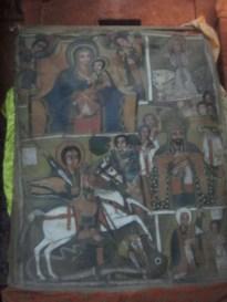 Bet Golgotha es conocida por albergar algunos de los mejores primeros ejemplos del arte etíope cristiano