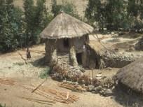 Zoom descarada de una de las casas tradicionales