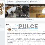 Lo scherzo delle scuole chiuse diventa un 'caso'. Intasata la pagina facebook del Comune che denuncia i profili falsi