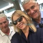 Anna Falchi con Barosini e Mutti. Preludio della Notte Bianca